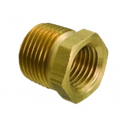 "3/8"" Male BSPT x 1/4"" Female BSP Brass No 24 Reducing Bush"