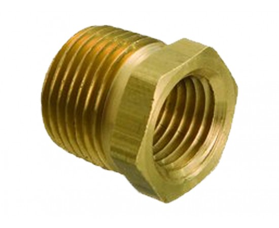 "1/2"" Male BSPT x 3/8"" Female BSP Brass No 24 Reducing Bush"