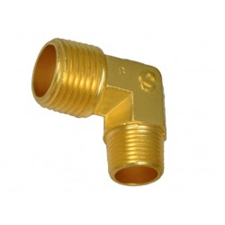 "Reducing Elbow 1/2"" Male BSP  x 3/4"" Male BSP Brass"
