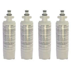 4 x Beko 4874960100 Genuine Fridge Water Filter Internal