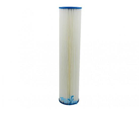 """Big White Big Blue Pleated Sediment Pre Filter 10 Micron 20"""""""