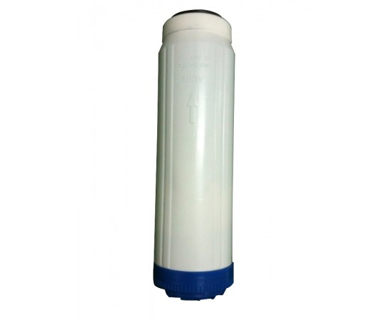 """10"""" Refillable Water Filter Cartridge Housing with DI Deionizer"""