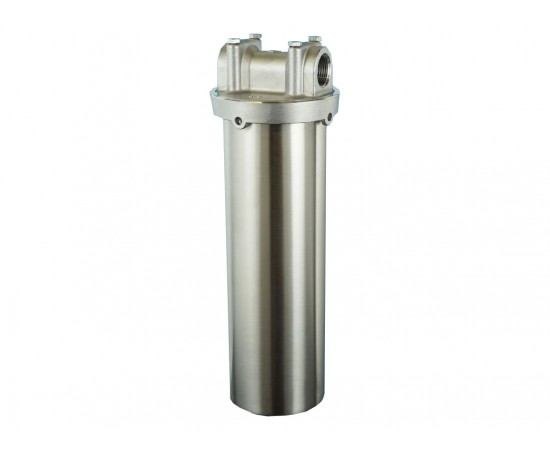 """Stainless Steel 304 Grade Water Filter Housing 3/4"""" Ports 10"""""""