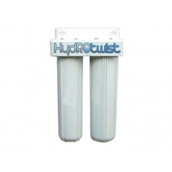 """Twin Whole House Water Filter System 20"""" Big White Premium CTO"""