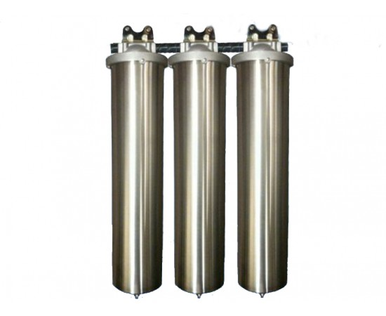 Triple Whole House Water Filter System Big Stainless Steel CTO