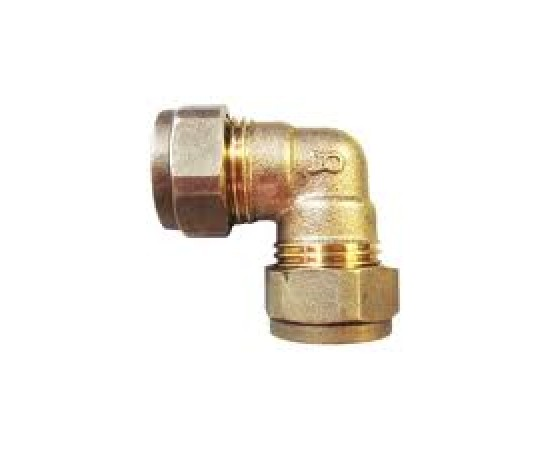 "Equal Elbow 3/4"" Compression  x 3/4"" Compression Brass"