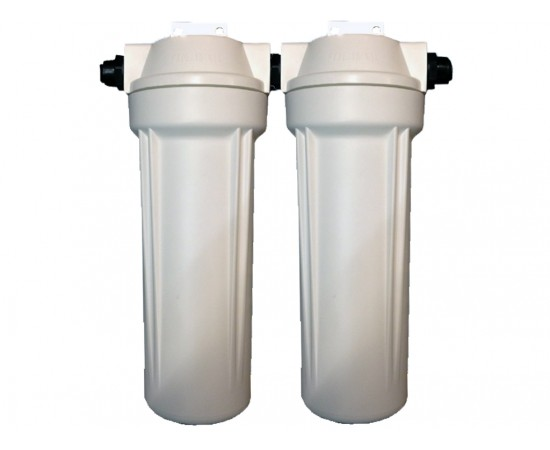 Twin Caravan or RV Water Filter System - 12mm Quick Connect
