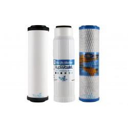 "Doulton Alkaline Triple Undersink Replacement Filter Set USA 10"""