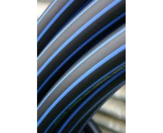 Metric Poly 25mm HDPE Blue Line Pipe 50 Metres