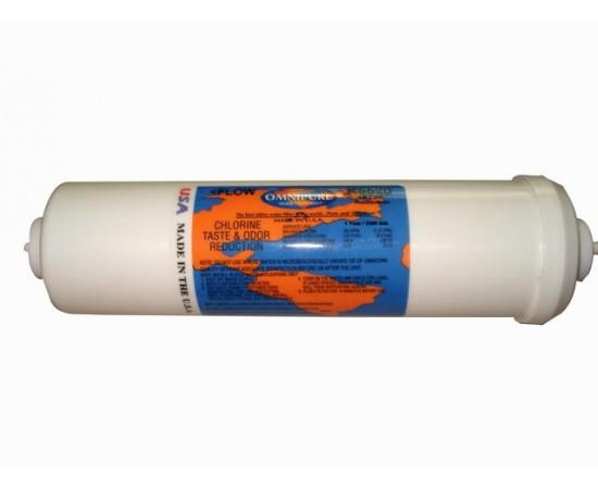 """Omnipure K5567 SS GAC & KDF 1/2lb Water Filter 2.5"""" x 10"""""""