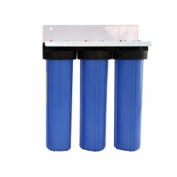 """Triple Whole House Water Filter System 20"""" Big Blue Fluoride FLO"""