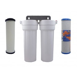 CeraMetix Ceramic Superblock Twin Under Sink Water Filter System