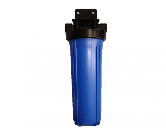 20x4.5 Big Blue Whole House Housing Tank Water Filter 1 Brass Port Include Wrench Home Appliance Parts