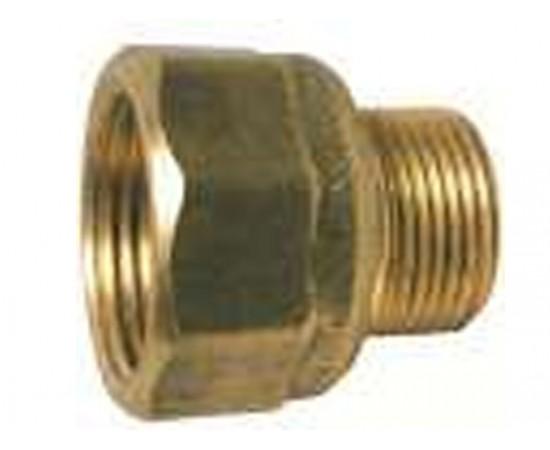 """No 72 Male x Female Brass Adaptor 1/2"""" BSP x 3/8"""" BSPT"""