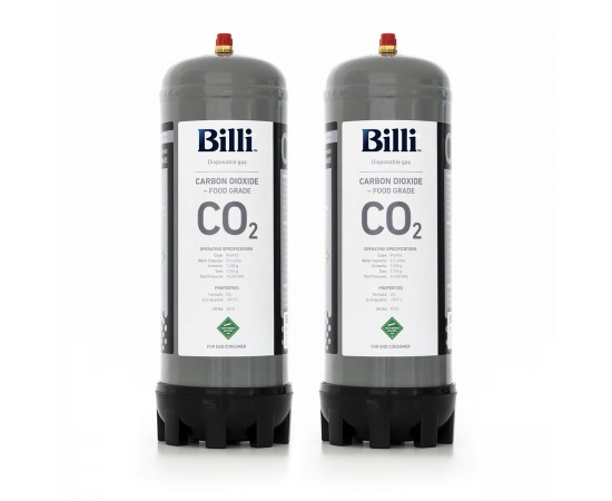 Billi Sparkling Replacement CO2 Cylinder – 2 Pack (Twin)