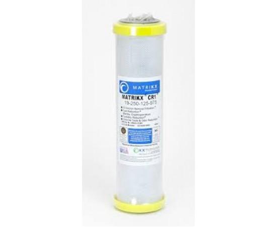 "Matrikx + CR1 Coconut Carbon Water Filter 0.5 Micron 10"""