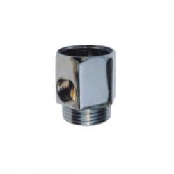 """Ezi Fit Adaptor Chrome 36mm 3/4"""" M x F Thread & 1/4"""" Port"""