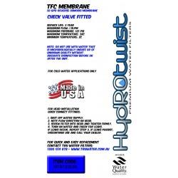 """HydROtwist HTR122550 TFC 50GPD Membrane 12"""""""