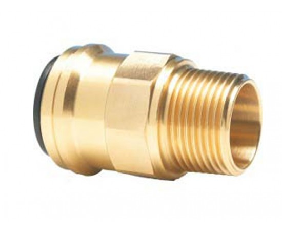 """John Guest 22mm Tube x 3/4"""" BSP Male Coupler MM012206N"""