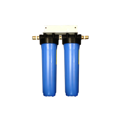 """Twin Whole House Water Filter System 20"""" Big Blue Marine 22mm"""