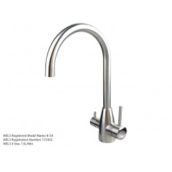 3 Three Way Mixer Tap Hot Cold & Pure 304 Stainless Steel Ro