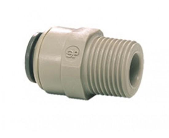 "John Guest 1/4"" Tube x 1/4"" BSP Male Straight Adaptor PI010812S"