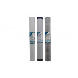 "Triple Whole House Slim Replacement Water Filters 20"" x 2.5"""