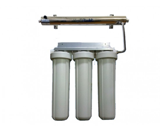 """UV Quad Whole House Water Filter System USA 91LPM Big White 20"""""""