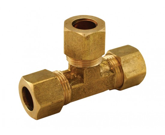 "3/4"" x 3/4"" x 3/4"" BSP Tee Piece Brass Compression Kinco Olives"