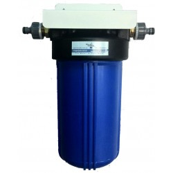 Single Carbon Boat Water Filter with Hose Connections