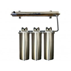 UV Quad Whole House Water Filter System 30LPM 304 Stainless