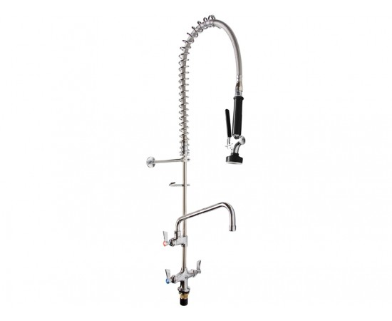 Commercial Dual Hob Cafe Pre Rinse Kitchen Mixer Tap 970mm