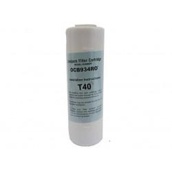 "Omnipure OCB834 RO GAC T40 Granular Carbon Water Filter 9"""
