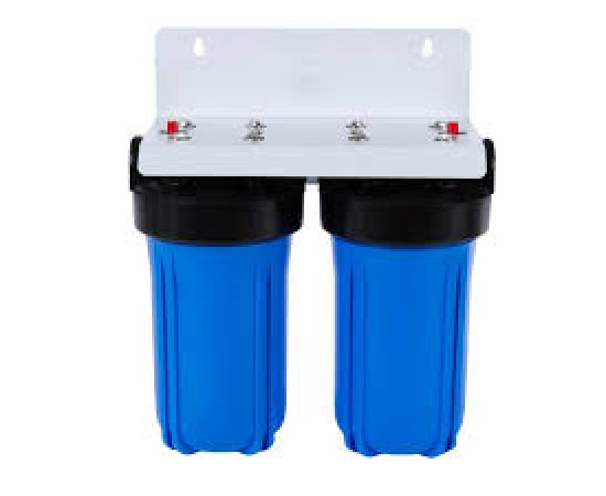 "Twin Whole House Water Filter System 10"" Big Blue Standard CTO"