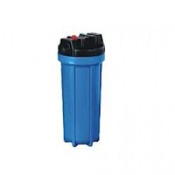 "HydROtwist Standard HP 10"" Housing with 3/4"" Plastic Ports Blue"
