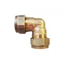 "Equal Elbow 1/2"" Compression  x 1/2"" Compression Brass"