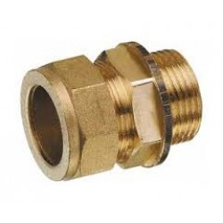 """Equal Straight 3/4"""" Compression  x 3/4"""" Male BSP Brass"""