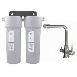 Doulton Twin Under Sink Water Filter System with 3 Way Mixer Tap