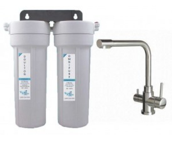 Doulton Twin Under Sink Water Filter System & 3 Way Mixer Ta