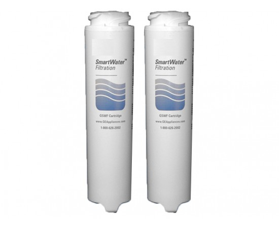 2 x GE GSWF SmartWater Slim Internal Fridge Water Filter Genuine