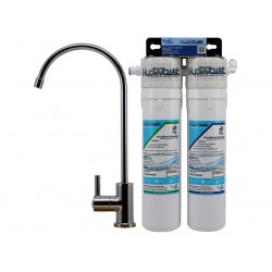 HydROtwist Premium Quick Change Twin Under Sink Water Filter 10""