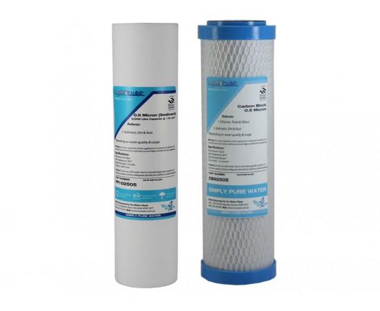 "Polyspun Sediment & Carbon Block Water Filter Set Suit 9"" In"
