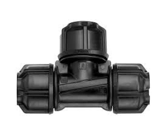 Philmac ECN 3G Metric 25mm x 25mm x 25mm Tee Quick Connect