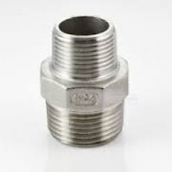 "Stainless Steel 316 Grade 1"" x 1 1/2"" BSP Male Hex Reducer"