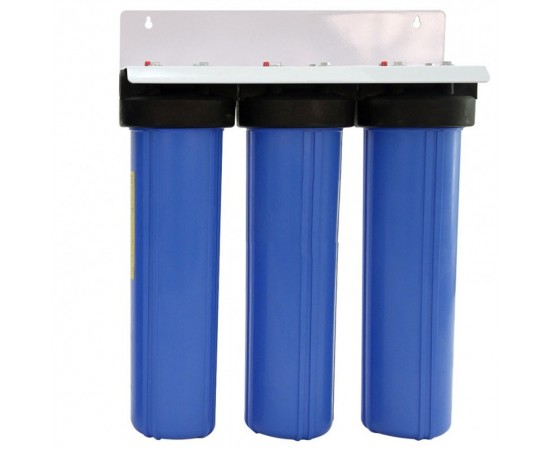"""Triple Whole House Water Filter System 20"""" Big Blue Upgrade Kit"""