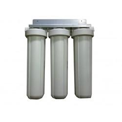 "Triple Whole House Water Filter System 20"" Big White Premium GAC"
