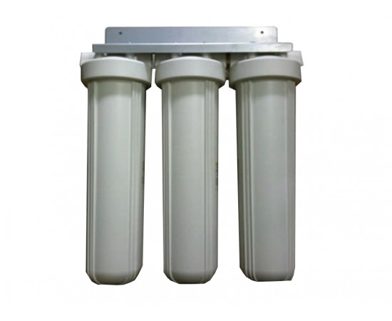 "Triple Whole House Water Filter System 20"" Big White Premium GAC"