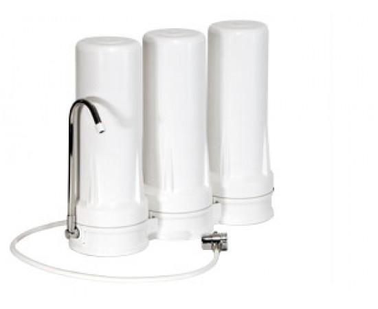 HydROtwist Triple Under Sink Water Filter & 3 Way Mixer Tap
