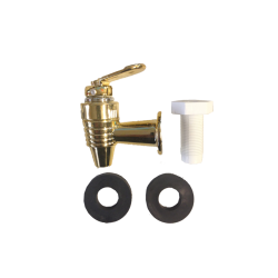 Replacement Gold Tap for Gravity Fed Ceramic Crock, Urn